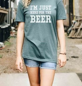 I'm Just Here For The Beer Graphic Tee - Indigo