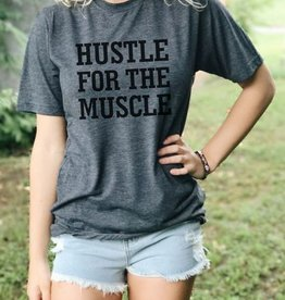 Hustle For The Muscle Graphic Tee - Charcoal