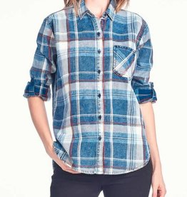 What Country Is- Flannel Shirt- Navy/Red