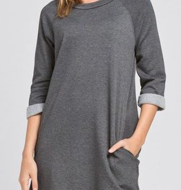 All In One Dress - Charcoal