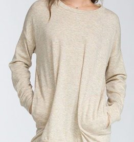 Off Duty Style Tunic - Oatmeal