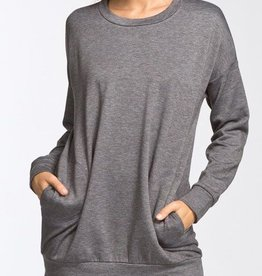 Off Duty Style Tunic - Charcoal
