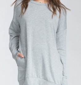 Off Duty Style Tunic - Heather Gray