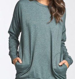 Off Duty Style Tunic - Hunter Green