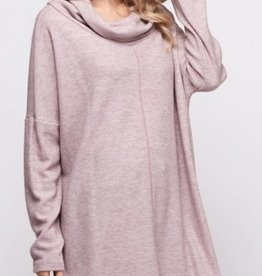 Take Me On A Journey Turtle Neck Top - Blush