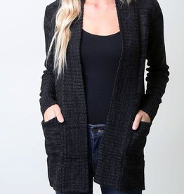 Nothing But Warmth Cardigan - Black/Charcoal