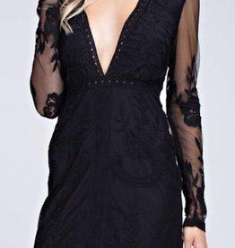 Glam Affair Lace Dress - Black