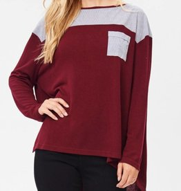 Know Better Long Sleeve Tunic - Wine