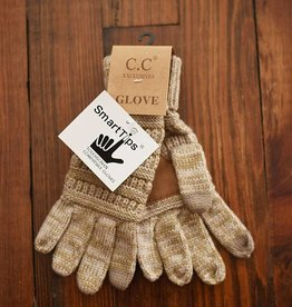 Knit Glove - Tan
