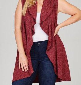 What I Like Sweater Vest - Burgundy