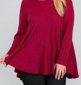 Fall Into Place Top - Ruby