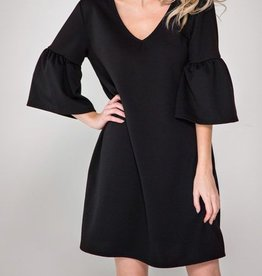 Adorably Classic Dress - Black