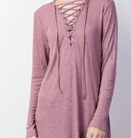 The Missing Piece Top- Burgundy