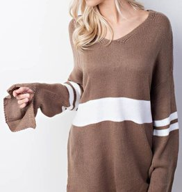Living The Dream Sweater- Mocha