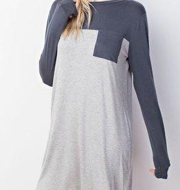 Simple Minds Dress- H. Grey