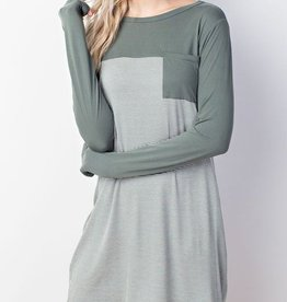 Simple Minds Dress- Green