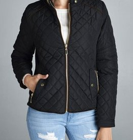 Winding Roads Quilted Jacket - Black