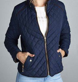 Winding Roads Quilted Jacket - DK Navy