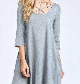 Sleigh Them All Dress - Grey