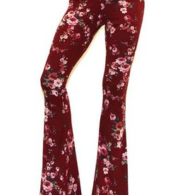 Rose To The Occasion Pants - Burgundy