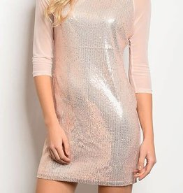Sparkle In The Night Dress - Rose
