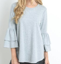 Lessons In Love Top - Heather Grey