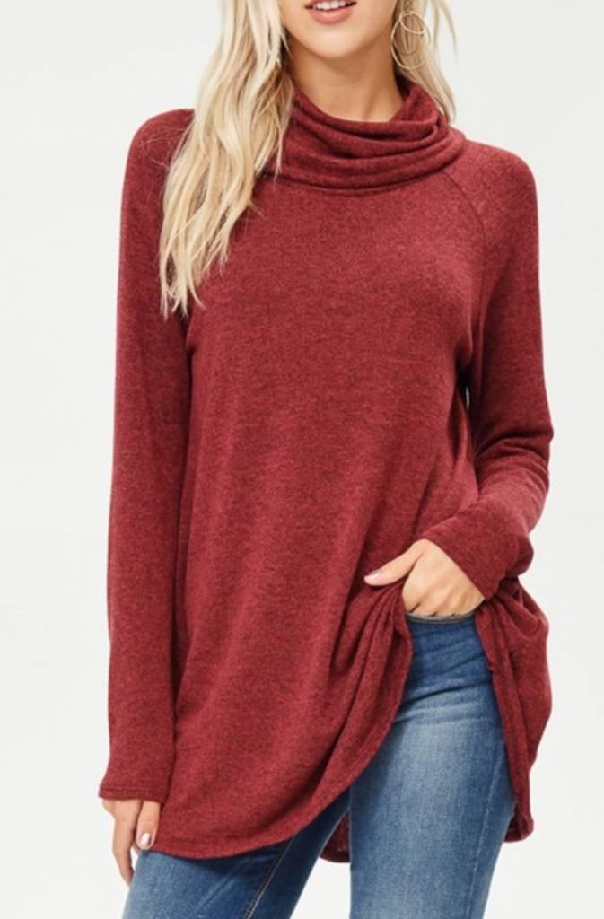 Chasing Down A Daydream Sweater - Burgundy