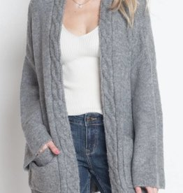Remember You Well Cardigan - Grey