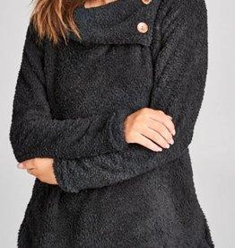 Wonderful Winter Love Sweater - Black
