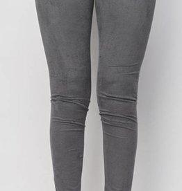Legendary Velvet Leggings - Charcoal