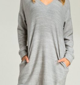 Wrapped Up In You Dress - Heather Grey