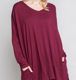 Just Need You Tunic - Burgundy