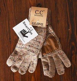 Confetti Knit Glove - Taupe