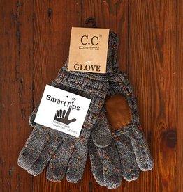 Confetti Knit Glove - Dark Melange