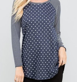 Snow Flurries Top - Navy