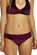 Hours Thalia Pant Bikini Bottom- Maroon