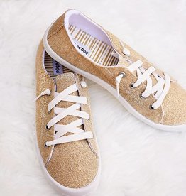 NOT RATED Glitter In The Air Sneaker - Gold