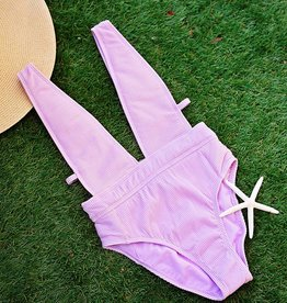 Rib-Thym Nation Plunge One Piece- Orchid