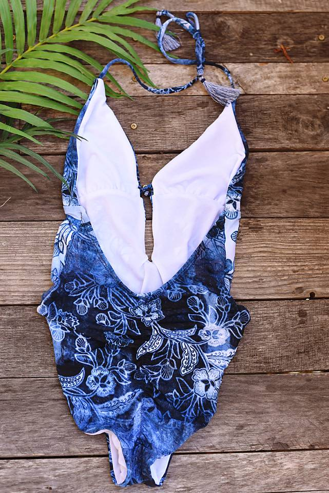 Indigo Your Own Way High Leg One Piece- Indigo