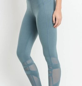 Finding The Right Time Leggings - Light Teal Blue