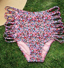 Spring Bloom Hi Waist Bottom- Multi
