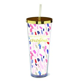 Just Another Day in Crazytown Straw Tumbler