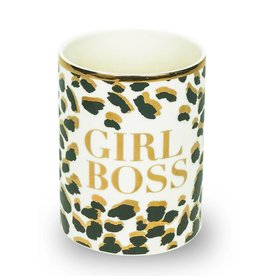 Girl Boss Ceramic Pencil Cup