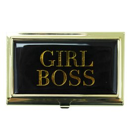 Girl Boss Business Card Holder - Black