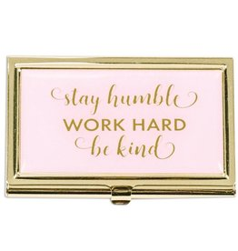 Stay Humble Business Card Holder