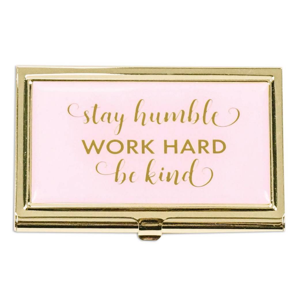 Mary Square Stay Humble Business Card Holder - Cheeky Bliss