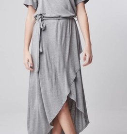 Only Forever Pull Over Wrap Dress - H. Gray