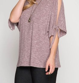 Pull Me Closer Top - Dusty Mauve