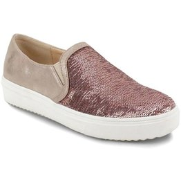 Sparkle My Fancy Slip On Sneaker - Rose Gold