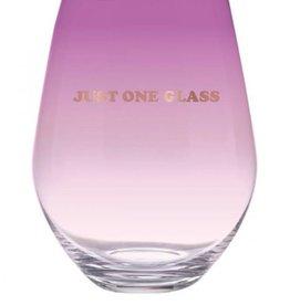Stemless Wine Glass 30oz.- Just One Glass
